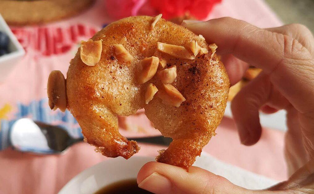 Croissants de yuca rellenos sin gluten